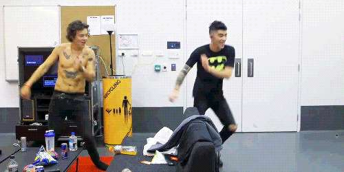 One Direction - 1D Day - gif - Harry e Zayn balletto