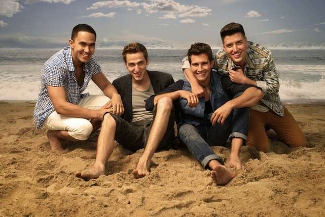 I Big Time Rush in spiaggia