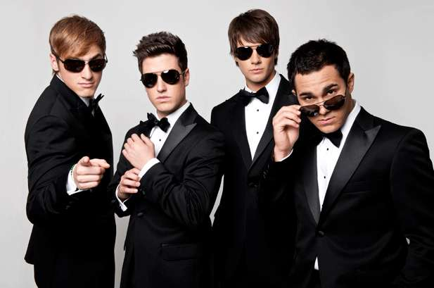 I Big Time Rush in versione elegante