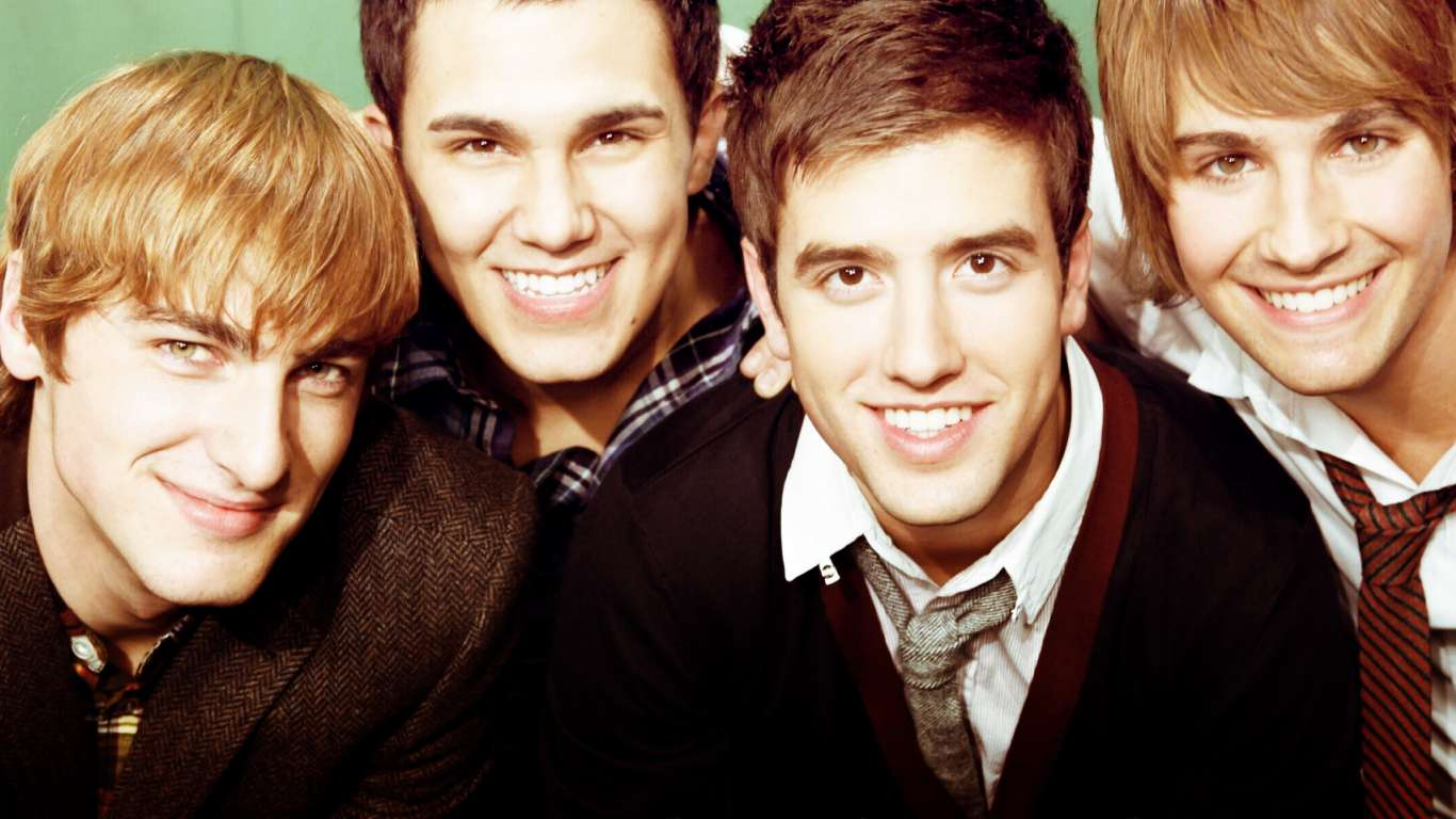 Primo piano dei Big Time Rush