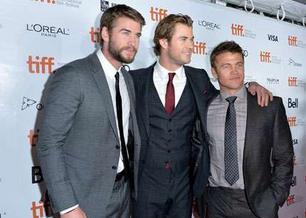 Toronto Film Festival 2013 - Liam, Chris e Luke Hemsworth