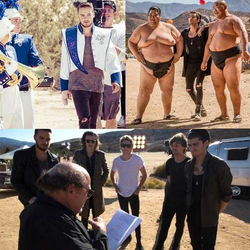 One Direction sul set di Steal My Girl