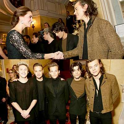 I One Direction Incontrano Kate e William di Inghilterra