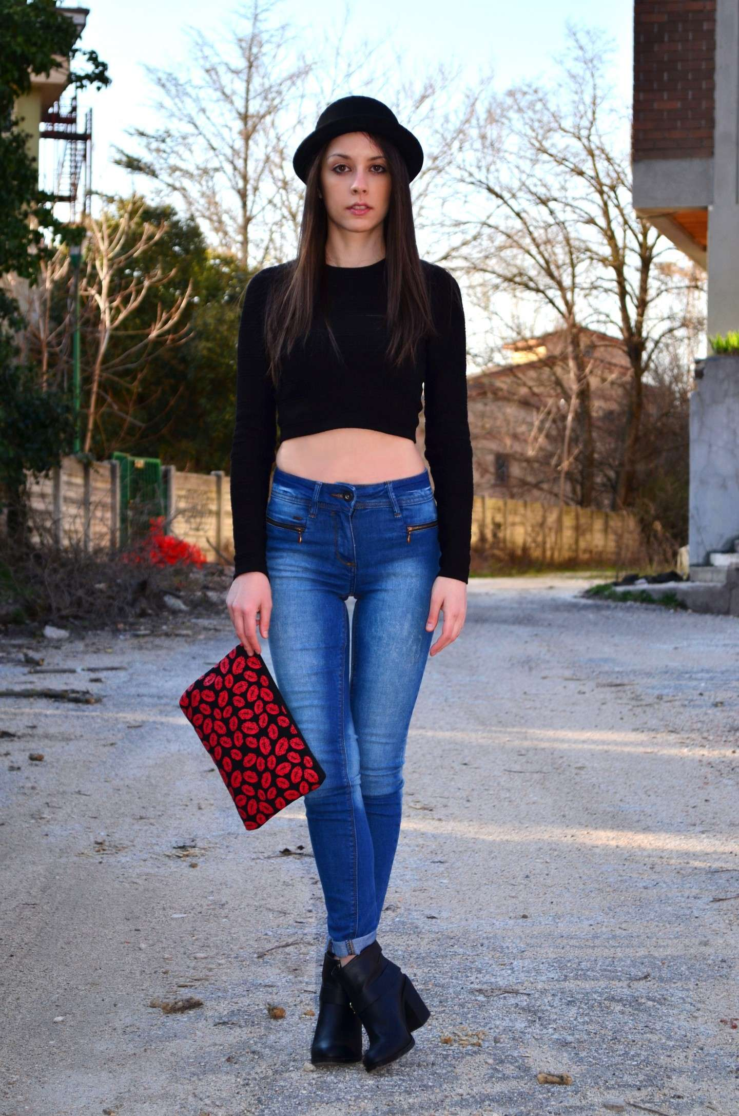 Crop top e skinny