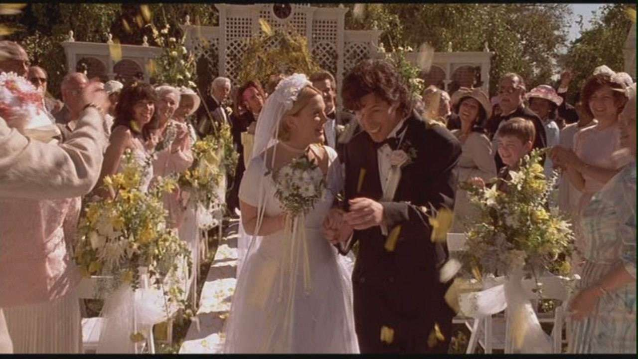 The Wedding Singer, wedding scene