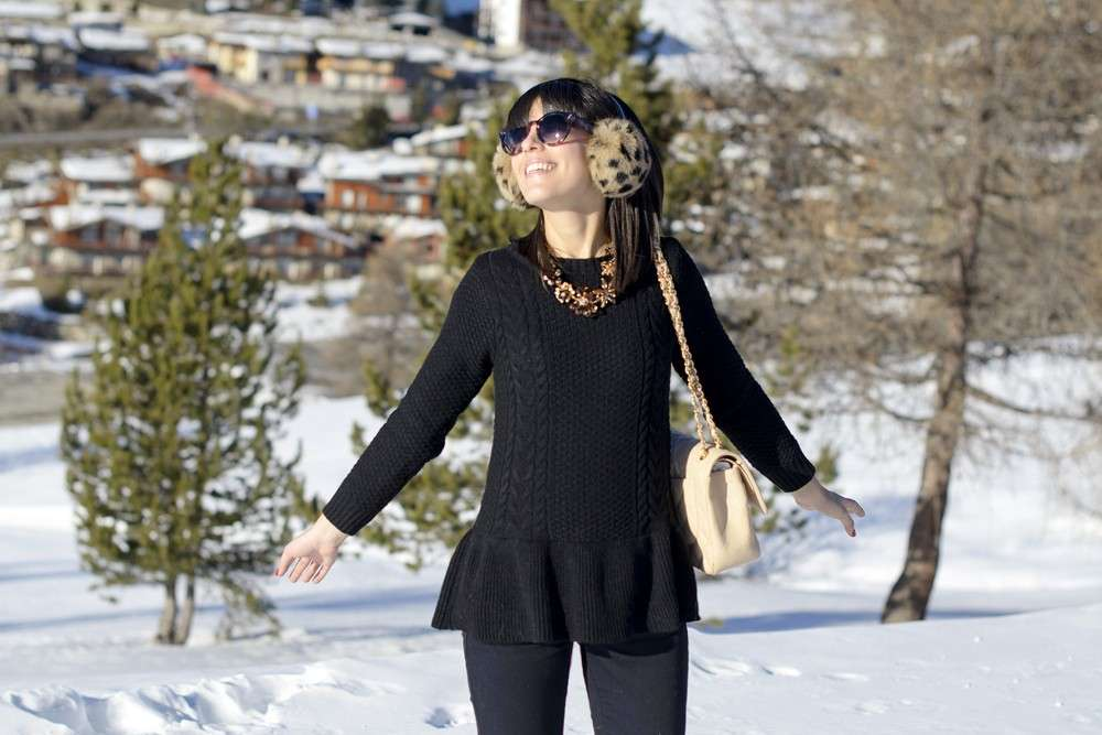 Outfit per weekend in montagna: sulla neve