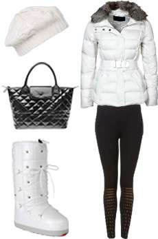 Outfit per weekend in montagna: outfit neve