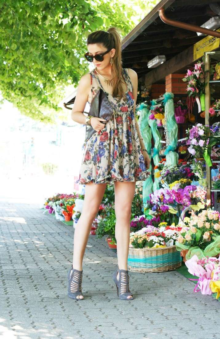Mini dress a fiori