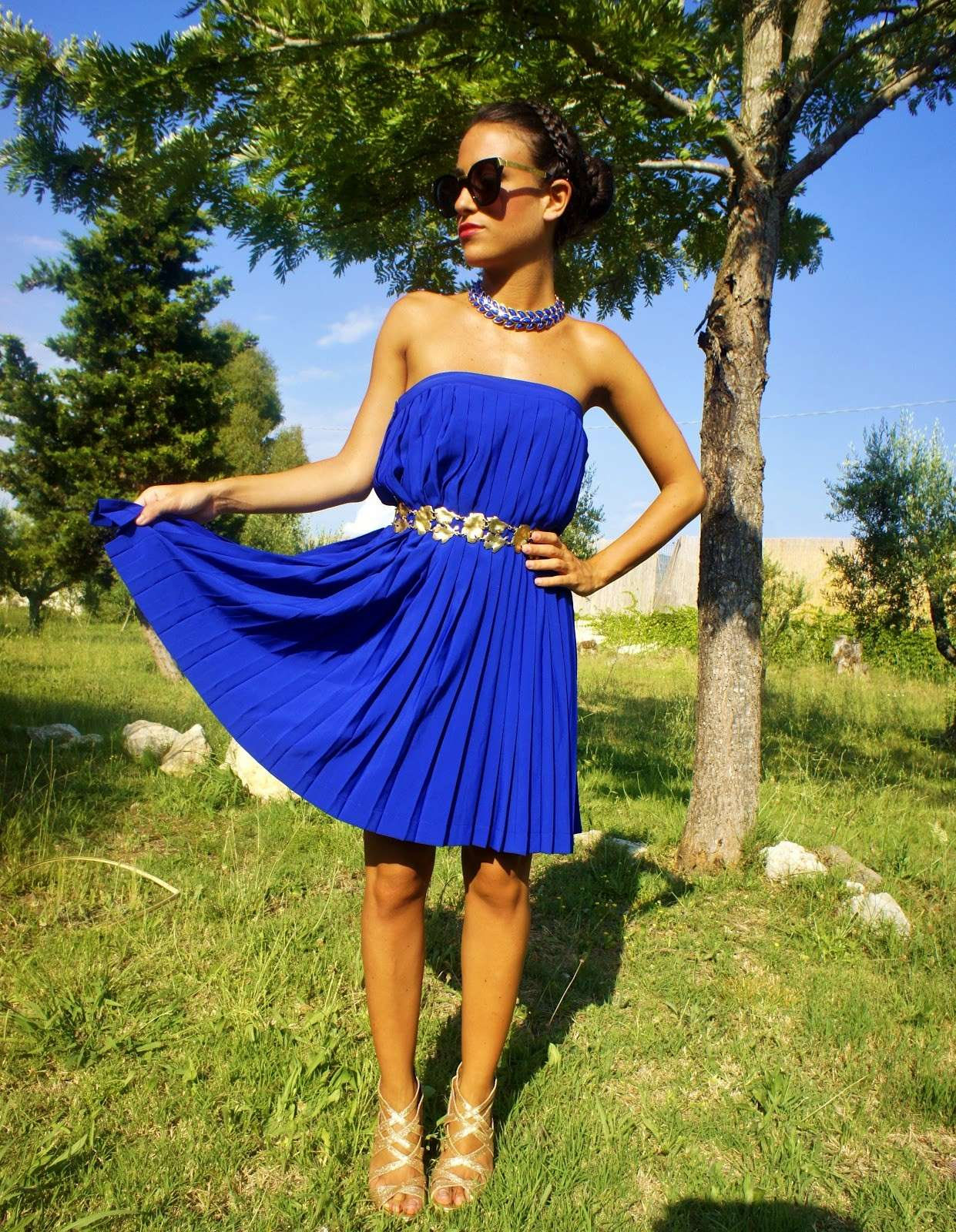 Mini dress blu elettrico