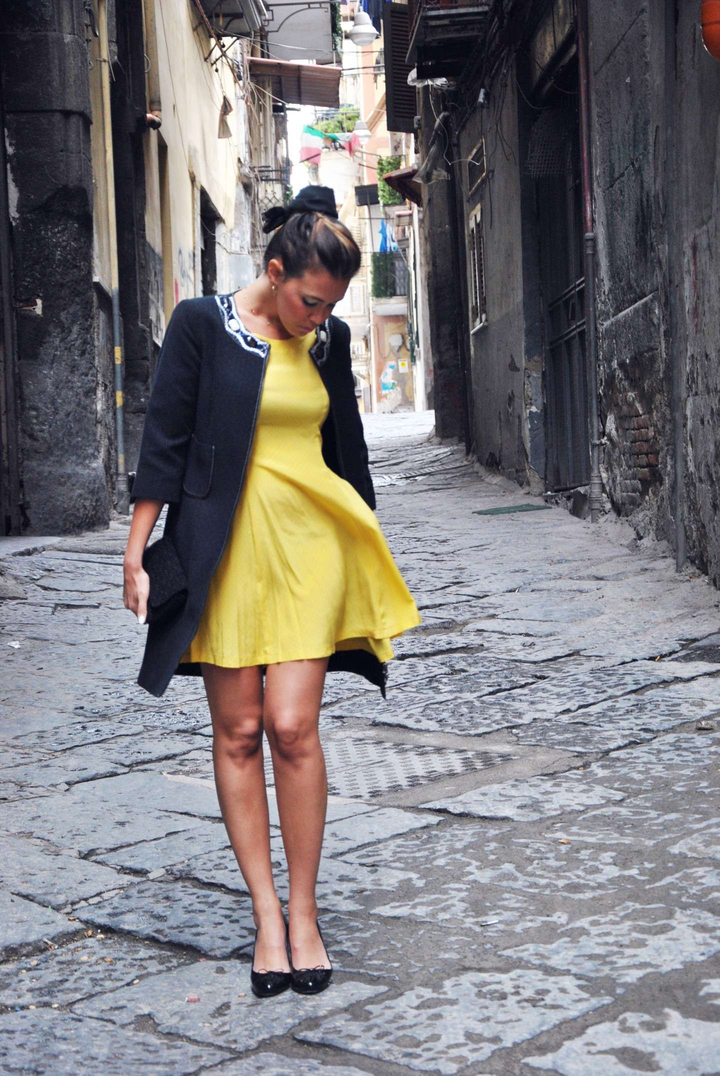 Mini dress giallo