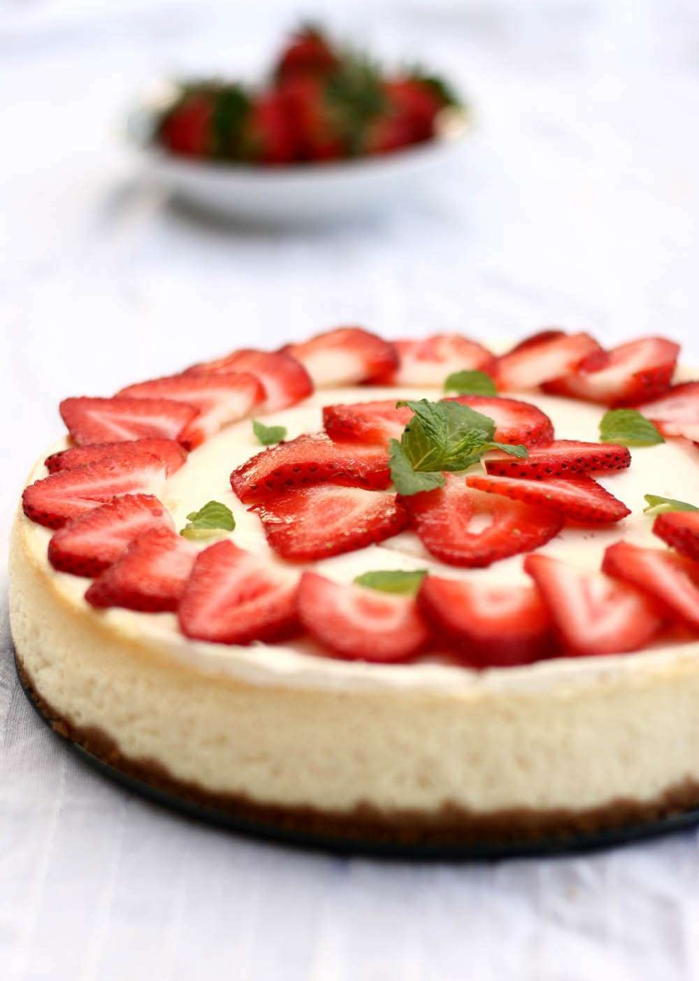Cheesecake decorazione fragole