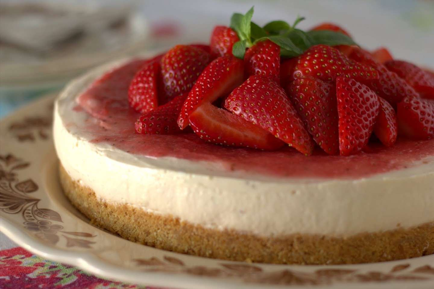 Cheesecake fragole fredda