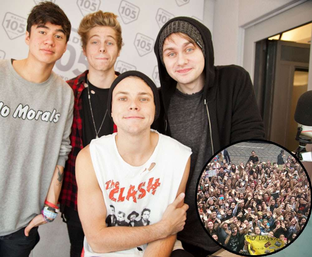 I 5 seconds of summer e la folla di fan