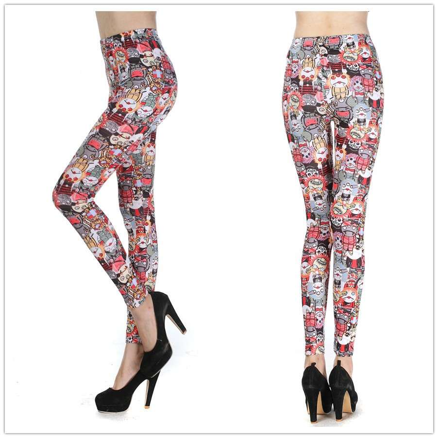 Leggings stampa cartoon
