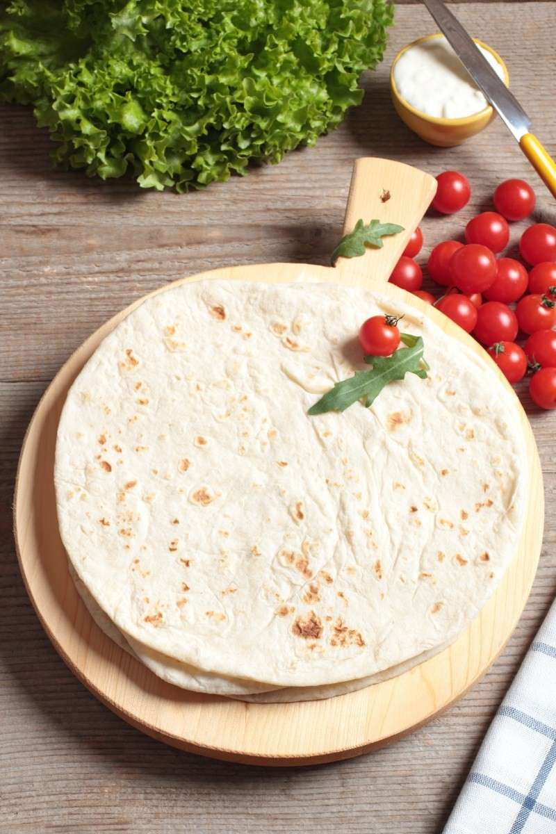 Piadina light con pomodorini
