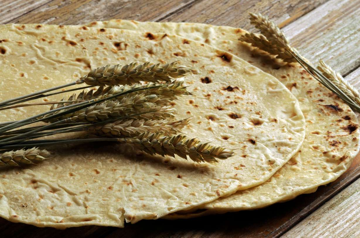 Piadina light senza strutto