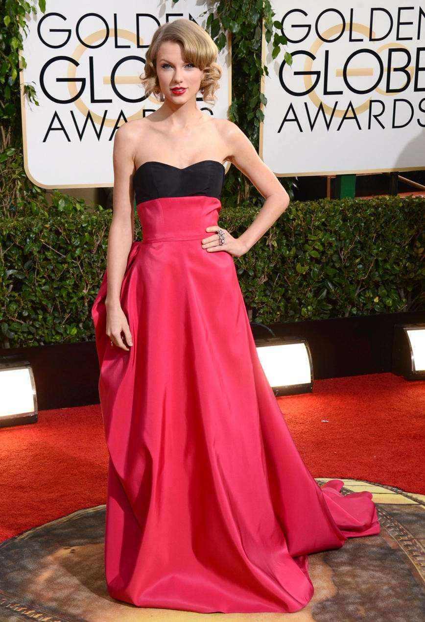 Il look di Taylor Swift ai Golden globe