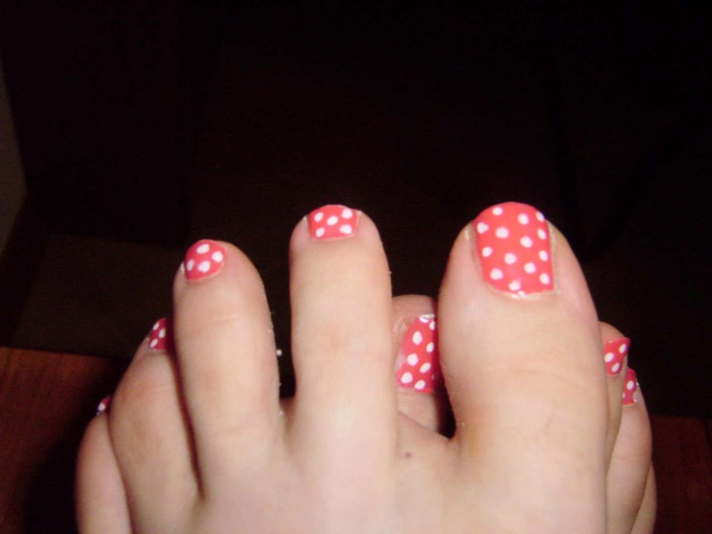 Pedicure a pois