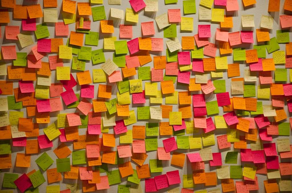 Post it sul muro