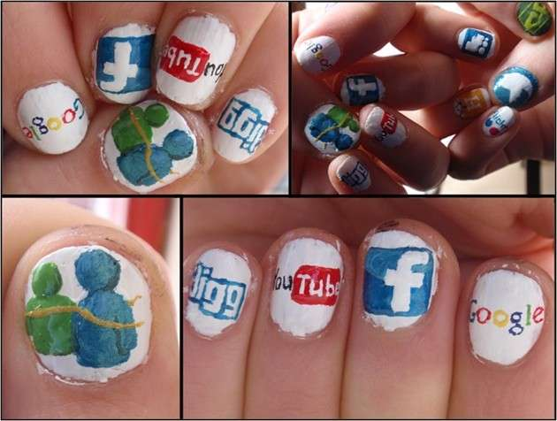 Messenger per nail art