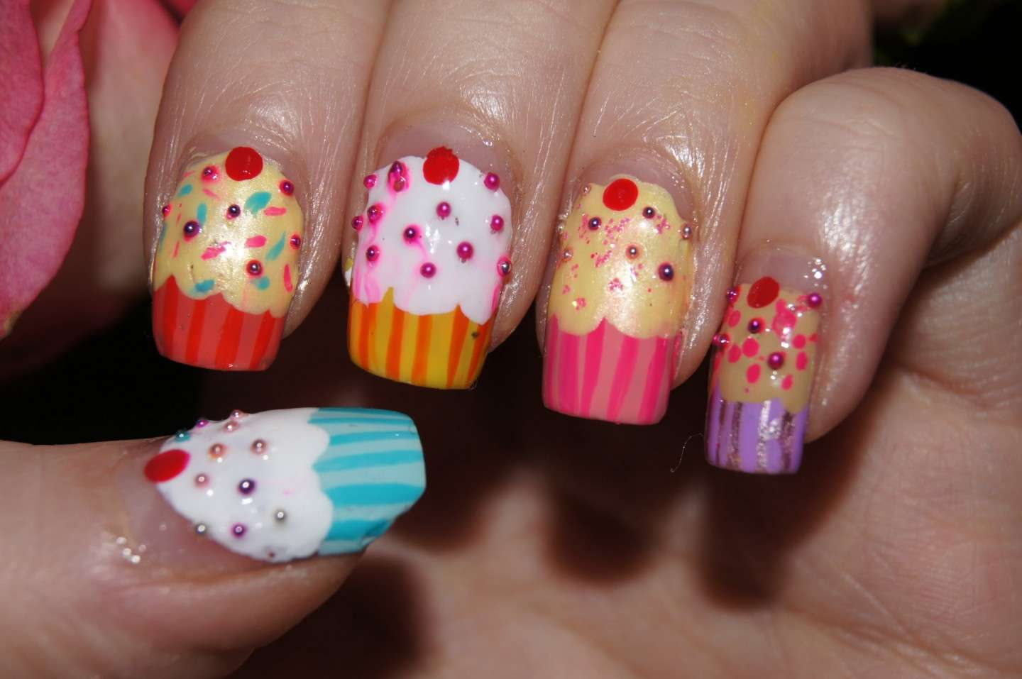 Cupcake colorati per nail art