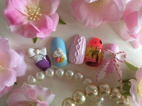 Nail art cupcake sticker