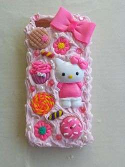 Cover iphone con fiocco rosa