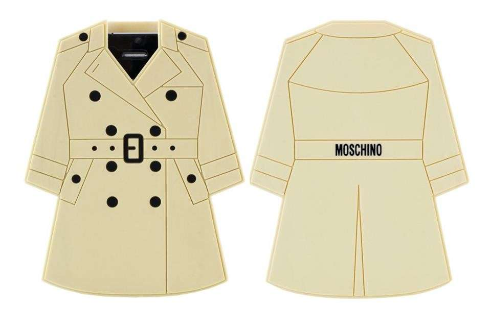 Cover di moschino a forma di trench