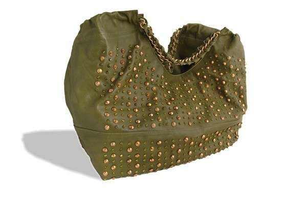 Shopping bag verde militare