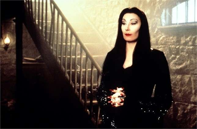 Morticia e il makeup