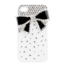 Cover per Iphone con strass e fiocco