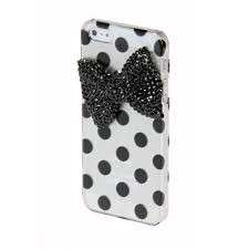 Cover per Iphone con fiocco e pois