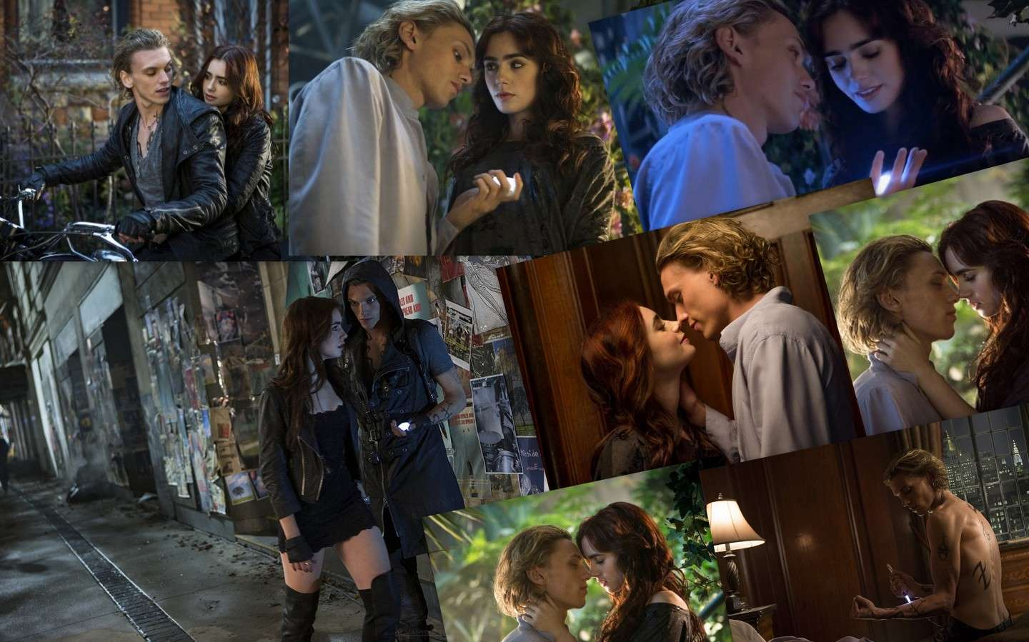 Collage di Jace e Clary