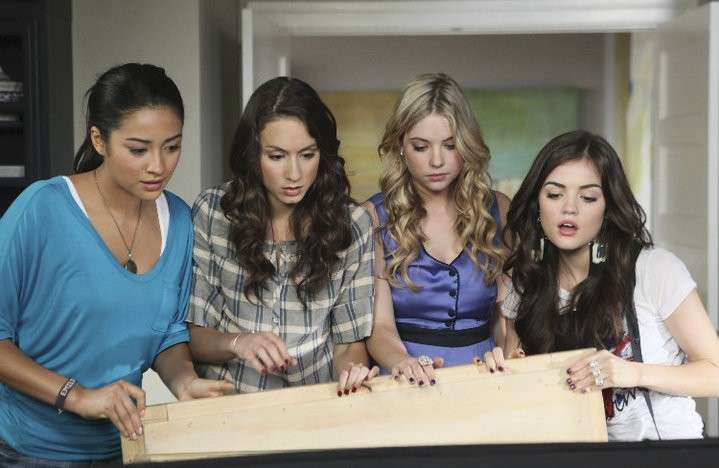 Le quattro protagoniste di Pretty Little Liars