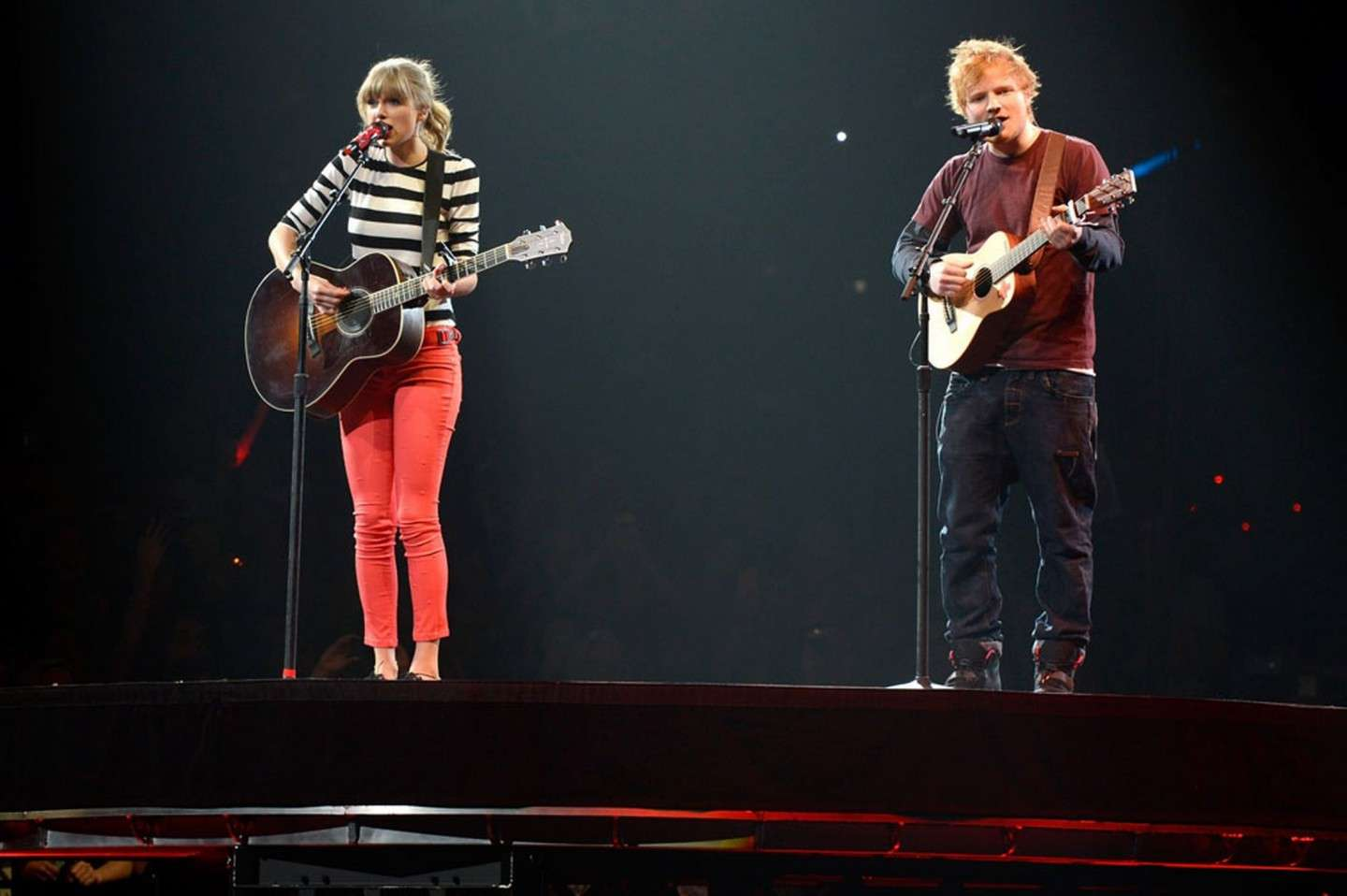 Ed Sheeran con Taylor Swift