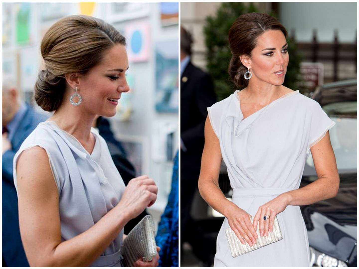 Kate Middleton con lo chignon regale