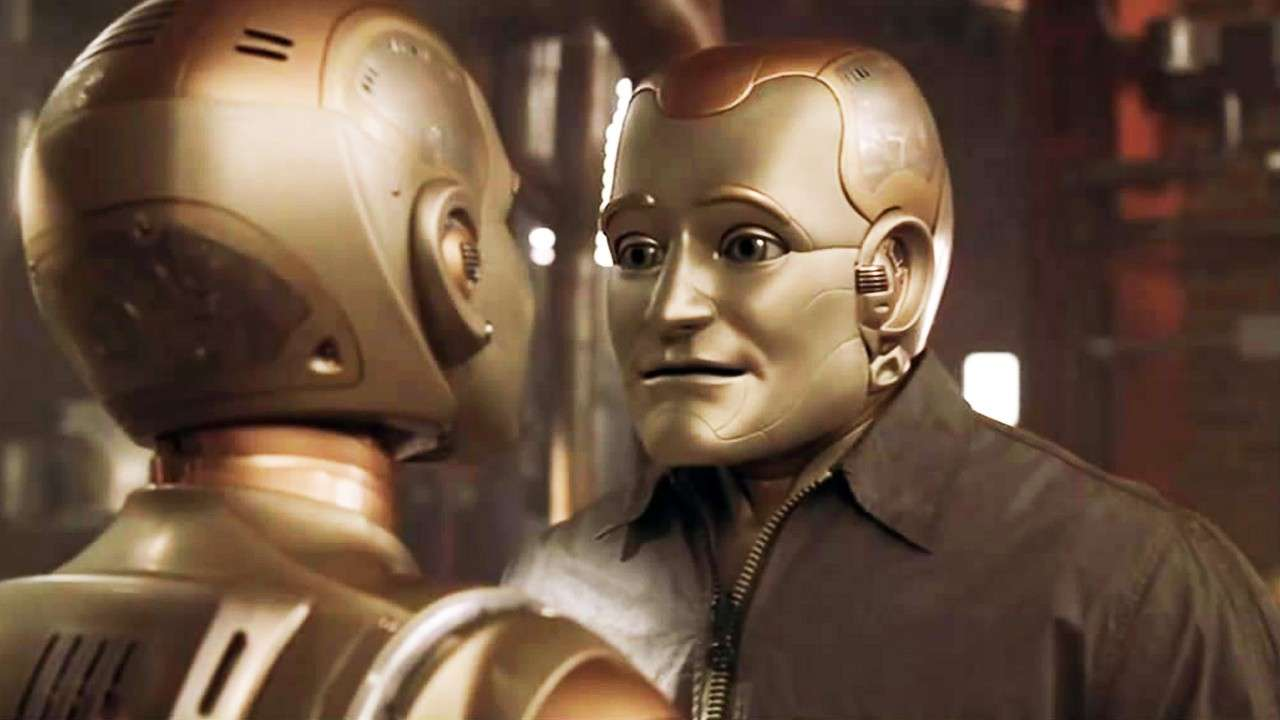 Robin Williams interpreta un robot