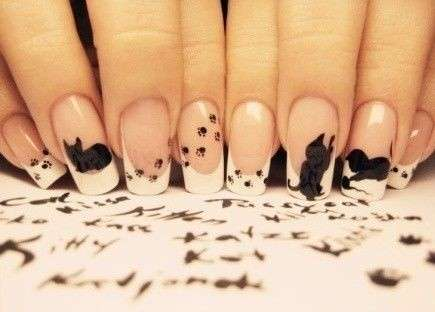 La nail art con gattini