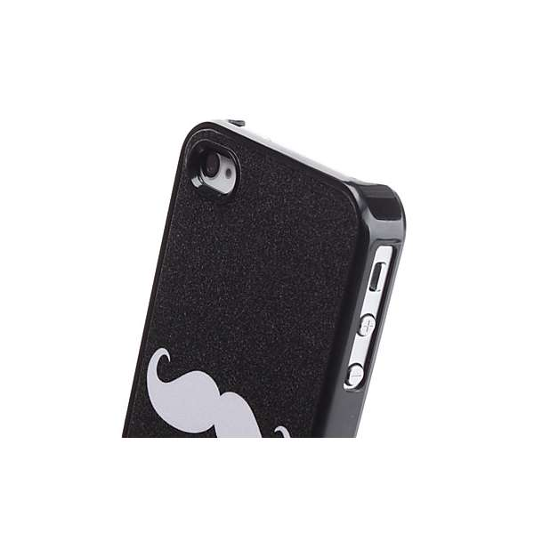 Cover rigida con baffi per iphone 4