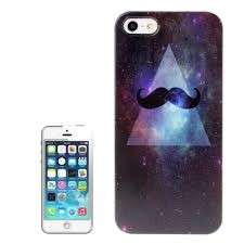 Cover per iPhone nera con baffi