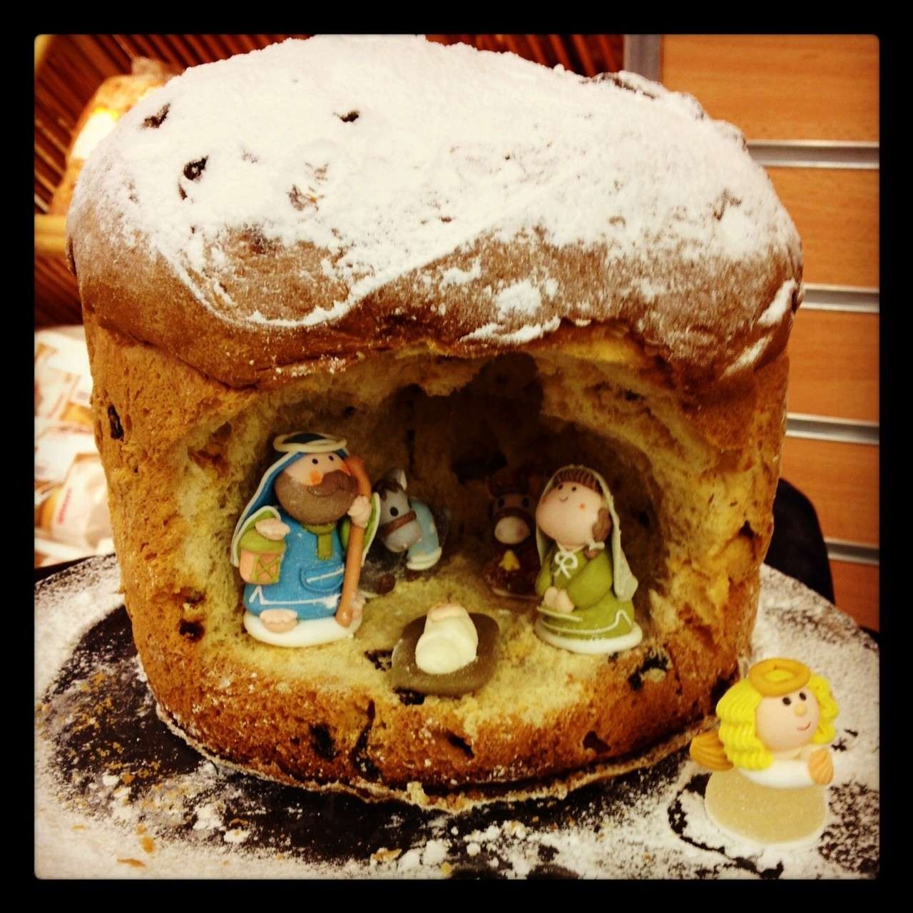 Dolcissimo presepe in panettone