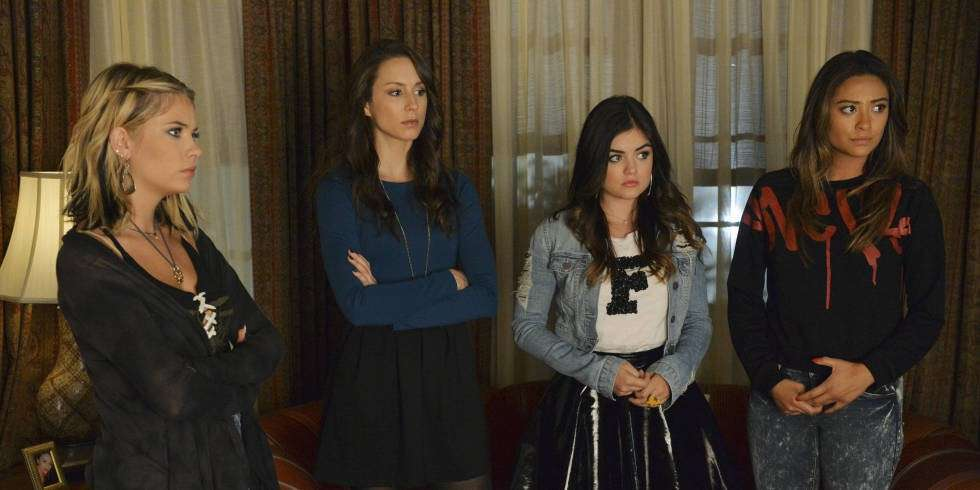 Aria, Spencer, Emily ed Hanna in Pretty Little Liars