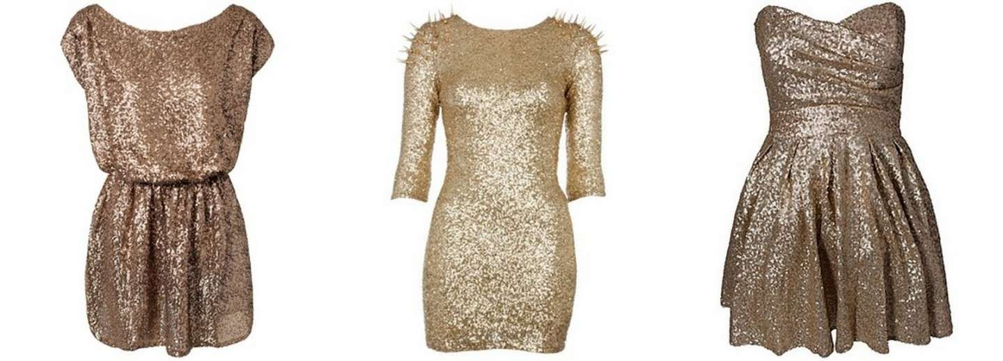 Outfit per Capodanno: mini dress oro