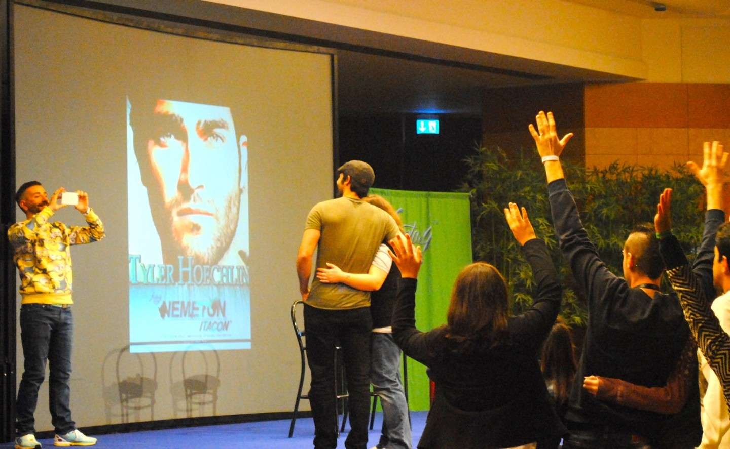 Scatto di Tyler Hoechlin alla Nemeton Itacon
