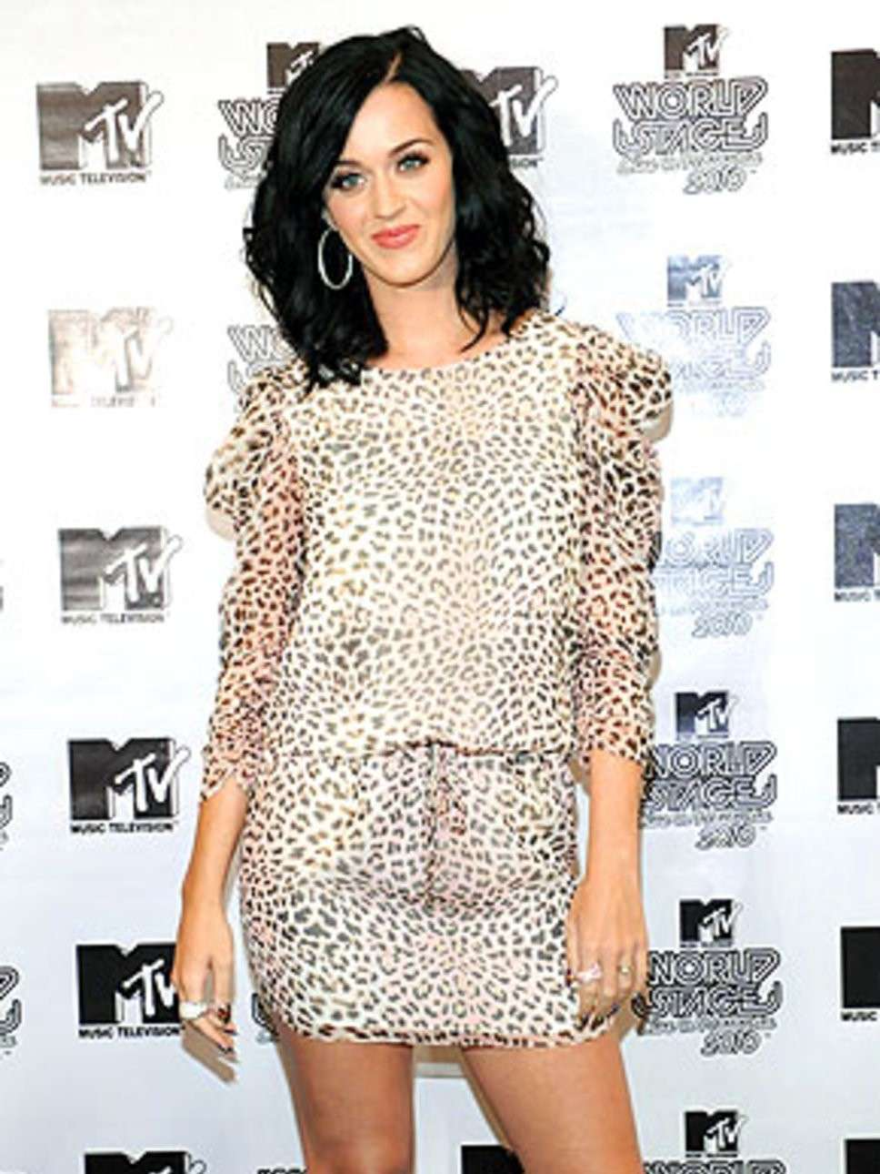 Katy Perry con look animalier