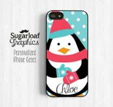 Cover per Iphone con pinguino freddoloso