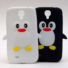 Cover con pinguini bicolore