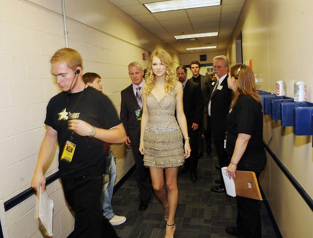 Taylor Swift nel backstage