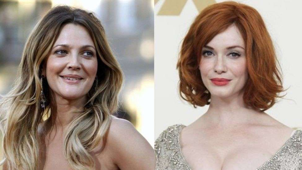 Drew Barrymore e Christina Hendricks, classe 1975