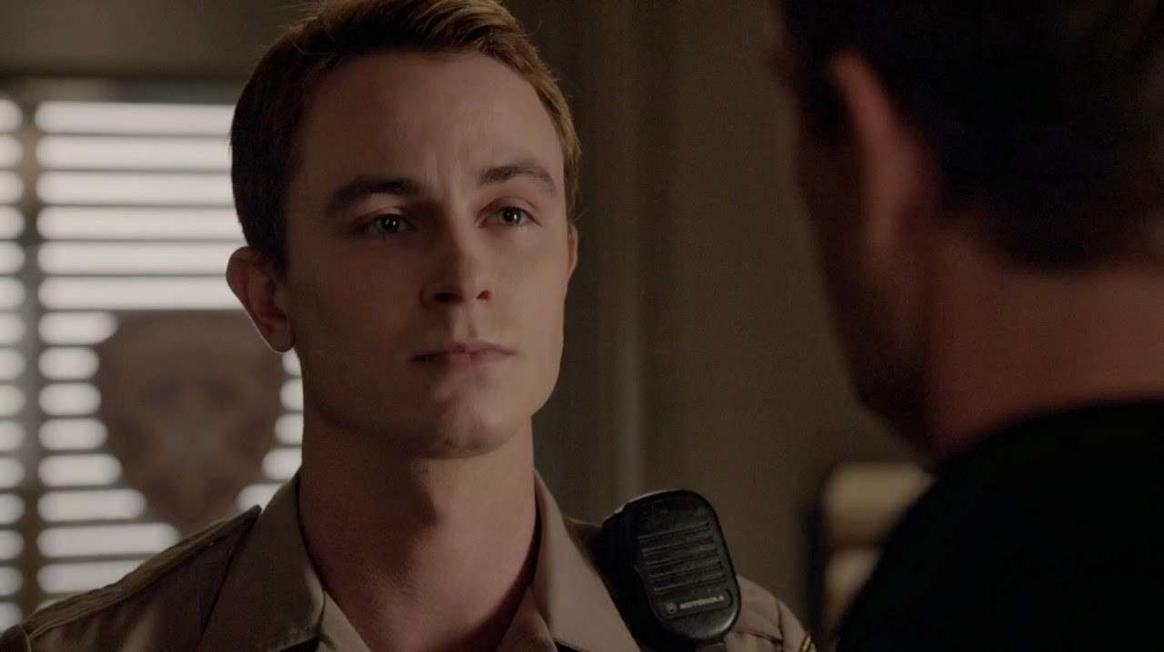 Ryan Kelley sul set